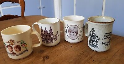 4 CHARLES & DIANNA marriage MUGS..1981