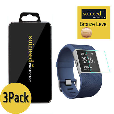 [3-Pack] SOINEED Tempered Glass Screen Protector For Fitbit Surge Smart Watch