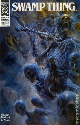 Swamp Thing (2nd Series) #92 1990 FN Stock Image