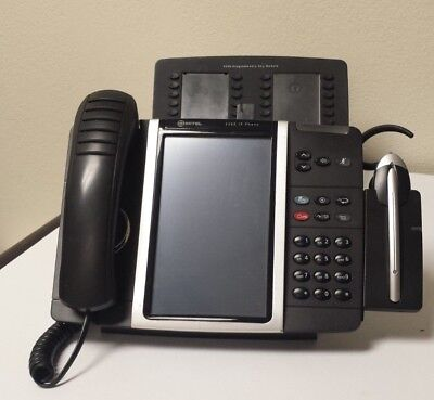 MITEL 5360 IP Phone w/ Cordless Headset & Charger Attachment & Programmable Key