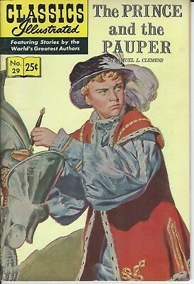 Classics Illustrated The Prince and the Pauper No.29  1970