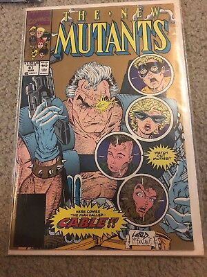 The New Mutants #87 (Mar 1990, Marvel) 2nd Printing. First Appearance Cable.