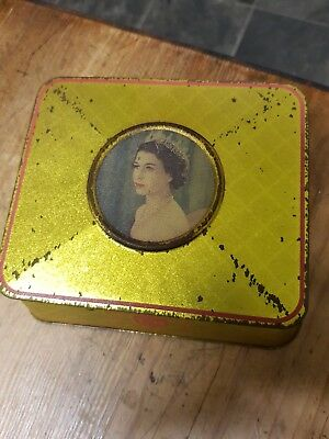 Queen Elizabeth Golden Jubilee souvenir tin