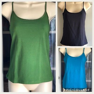 Lot of 3 OLD NAVY Intimates Basic Camis S  Knit Tank Tops Camis EUC Blue Green