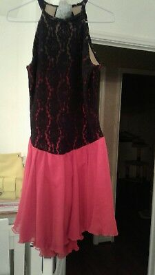 Black And Red Lace Ice Skating Dress