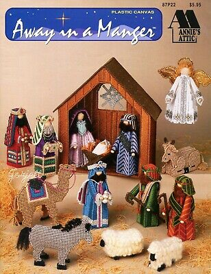 Away in a Manger ~ Figures & Stable Nativity, Annie's plastic canvas patterns