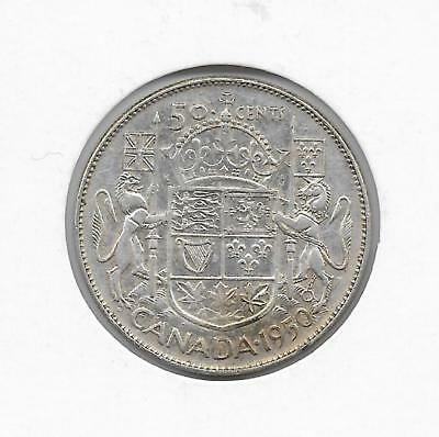 1950 Canadian 50 Cent Piece Silver (Very Nice)