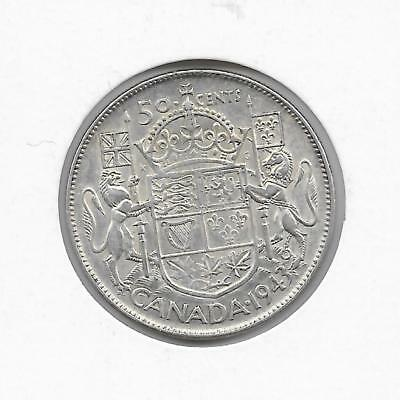 1943 Canadian 50 Cent Piece Silver (Very Nice)
