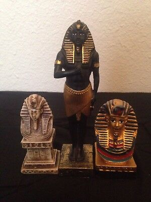 Ancient Egyptian King Ramses II, 3 STATUS different colors and designs 5lb