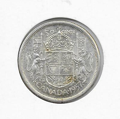1957 Canadian 50 Cent Piece Silver (Very Nice)