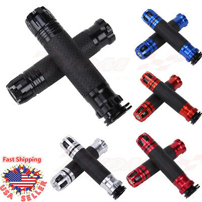 "7/8"" 22mm Motorcycle Rotatable Throttle Handlebar CNC Aluminum Alloy Hand Grips"