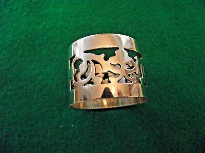 Antique Victorian Pierced Silverplate Napkin Ring late 1800s