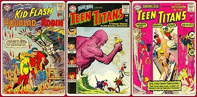 Brave & Bold 54, 60 & Showcase 59(1st, 2nd& 3rd App of Teen Titans!)DC TV Series