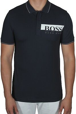 9a65fa953988a Hugo BOSS Paule Pro Men s Polo Shirt Short Sleeve Slim Fit 50389022 410 Navy