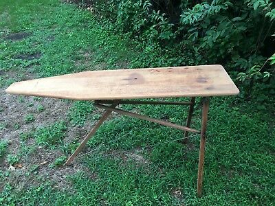 Antique Wooden Ironing Board All Original Good Condition Early 1900's