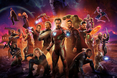 AVENGERS INFINITY WAR SUPERHEROES - CANVAS PRINT READY TO HANG or ROLLED FROM A4