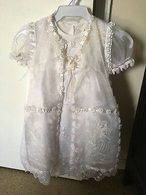 First Baptism Or Christening Dress Size 3 or 3T