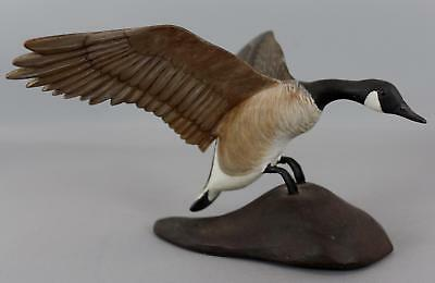 Original Vintage Rubolinos Carved Painted Miniature Canada Goose