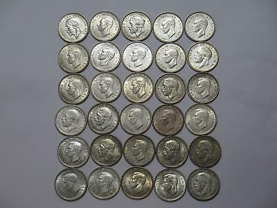 Great Britain One Shilling Silver Type Mixed Date Old World Coin Collection Lot