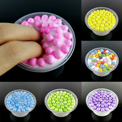 Glitter Anti-stress Colorful Fluffy DIY Clear Floam Beads Slime Gift Kids Relax
