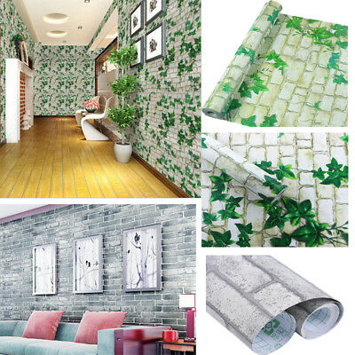 3D Stone Picture Brick Wall Paper Sticker Kitchen Bathroom Home Waterproof PVC