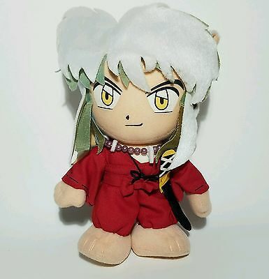 "2003 Inuyasha 8"" Stuffed Plush Toy w/ Suction Cup Strap Anime Collectors Doll"
