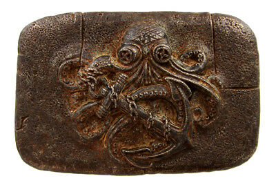 """Antique Rusty Copper Octopus Boat Anchor Belt Buckle fits up to 1-1/2"""" (38mm)"""