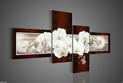 CHENPAT231 100% 4pcs hand-painted flower oil painting art on canvas