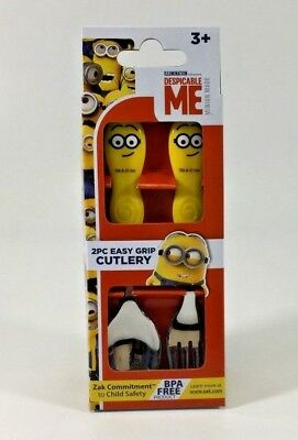 Disney Minions Dm3 Kids Easy Grip Flatware Spoon & Fork Cutlery