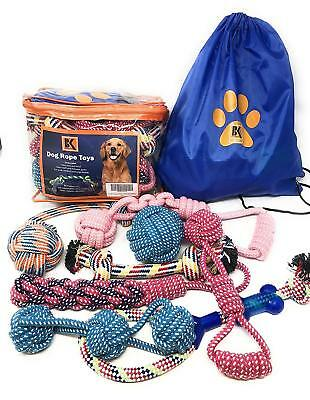Set of 8 Heavy Duty Dog Rope Chew Teething Toys for Medium and Large Aggressive
