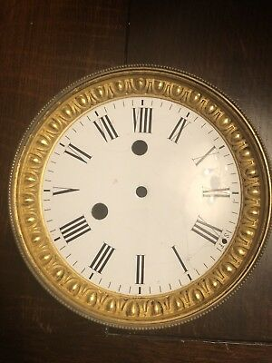 French Mantle Clock Enamel Dial