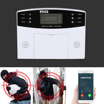 1A87 Smart Voice LCD GSM Wireless Wired Home Burglar Anti Theft Alarm System Kit