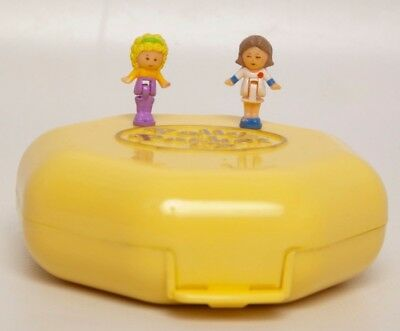 Vintage Polly Pocket Polly's Hair Salon 2 Dolls 1990 Bluebird Toys COMPLETE