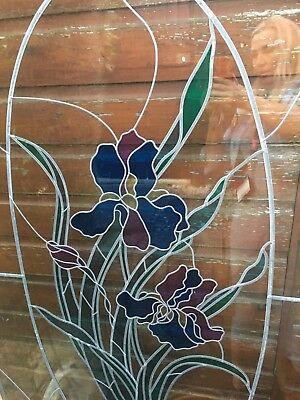 large door size stained glass window