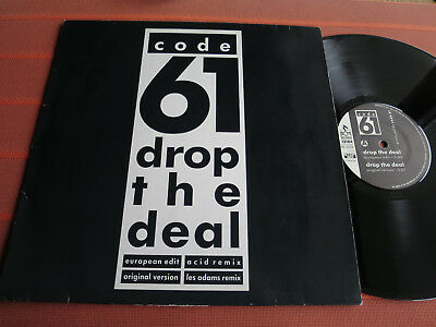 "CODE 61 – DROP THE DEAL-Remix (4Mixes) – 12"" Maxi Vinyl – Acid/New Beat 1989-TOP"