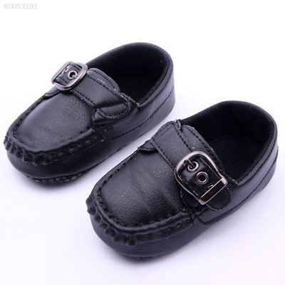 1CCE New Toddler Infants Prewalker Cute Buckle PU Leather Antiskid Crib Shoes