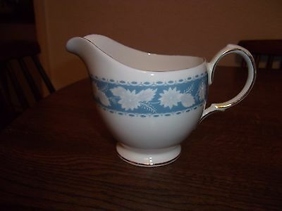 Royal Vale Blue and White Flora Milk/Cream Jug Pattern 8681
