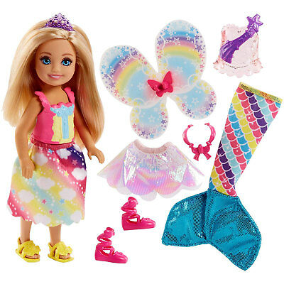 Barbie Dreamtopia Chelsea Fairytale Dress-Up Doll and Fashions (FJD00) by Mattel