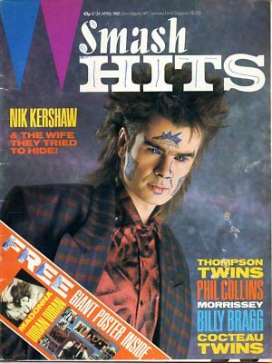 1985 Smash Hits Billy Bragg Phil Collins Morrissey Cocteau Twins Pogues Go West