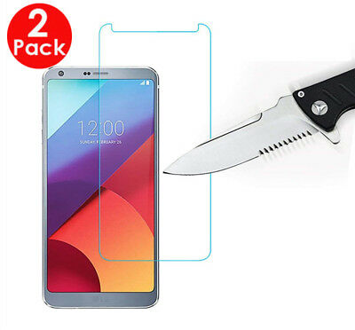 2X Pack - For LG G6  Tempered Glass Guard Guard Film Screen Protector