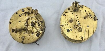 Two Antique French Clock Movements