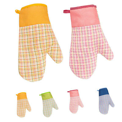 Oven Gloves Mitts Hand Padden Cooking Baking Kitchen Mittens Mit Pot Holder
