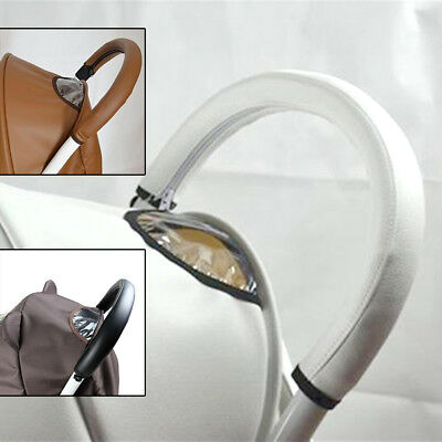 Baby Pram Stroller Armrest Protective Case Covers Handle PU Leather Sweatproof