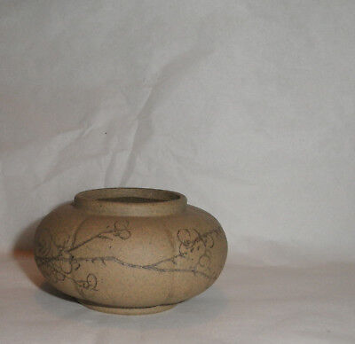 Good Chinese Inscribed Yixing Melon Lobed Pot Vase Bowl