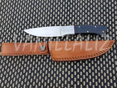 """VANILLALIZ""  Handmade D2 Tool Steel Buffalo Horn Hunting Bladed Knife"