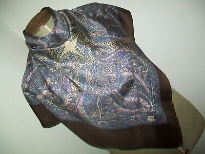 Liberty Of London. Pretty 1950's Classic Paisley Design Vintage Silk Scarf