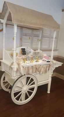 Wooden candy cart