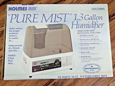 PerfectAire 1.0 Gallon Warm Mist Humidifier, White