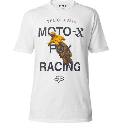 Fox Racing Classic Premium Mens Short Sleeve T-Shirt Optic White