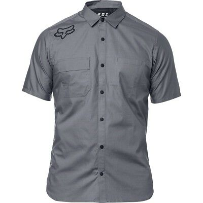 Fox Racing Redplate Flexair Button Up Short Sleeve Shirt Steel Gray